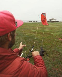 Kiteboarding with Discover Canada's Rachel Moore